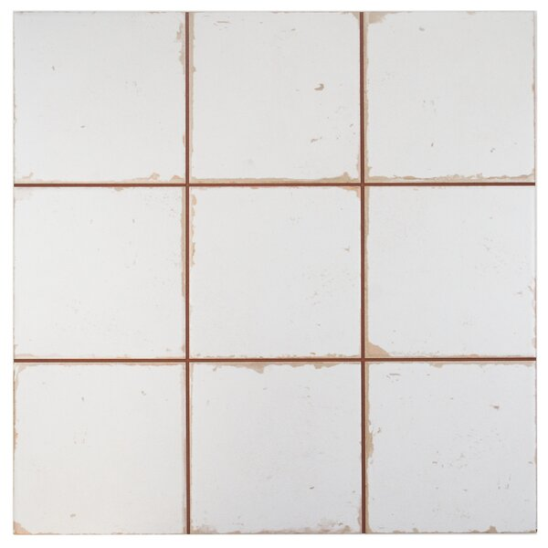 Faventie Manises 13 x 13 Ceramic Field Tile in White by EliteTile