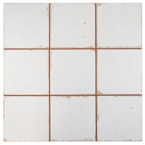 Faventie Manises 13 x 13 Ceramic Field Tile in White by EliteTile