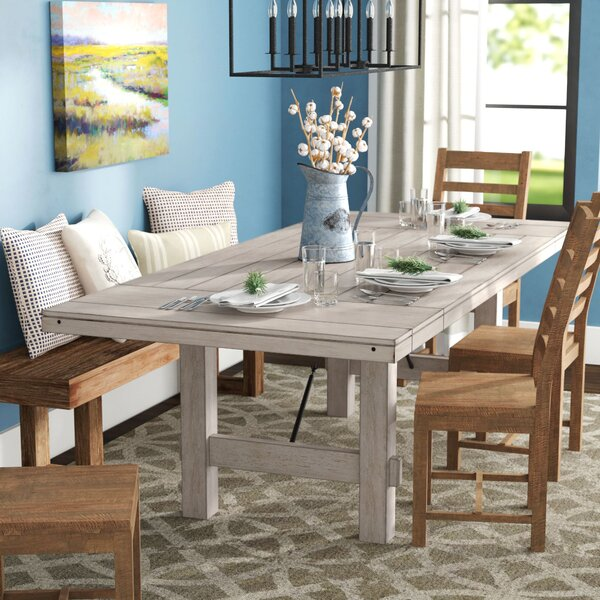Beachem Extendable Solid Wood Dining Table by Laurel Foundry Modern Farmhouse