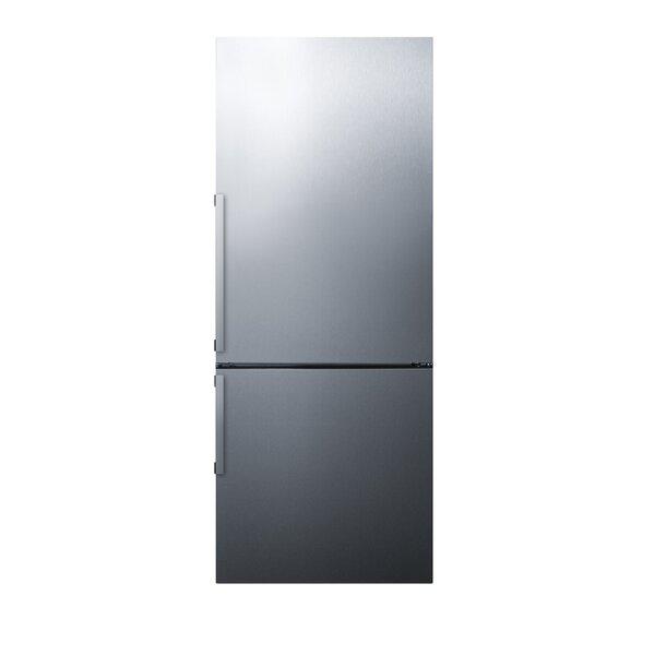 28 Counter Depth Bottom Freezer Energy Star 16.4 cu. ft. Refrigerator with Icemaker