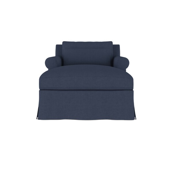 Autberry Linen Chaise Lounge by Canora Grey