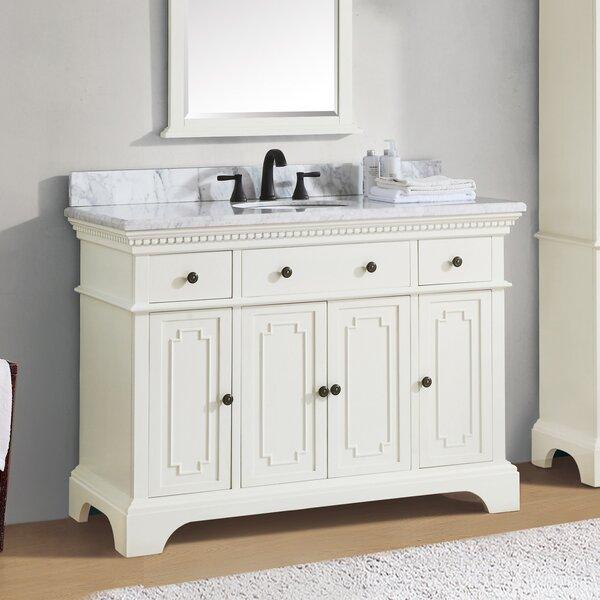 Ruthann Marble Top 49 Single Bathroom Vanity Set