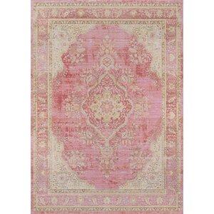 Sofian Pink Oriental Area Rug
