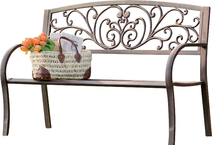 Perfect Blooming Iron Garden Bench