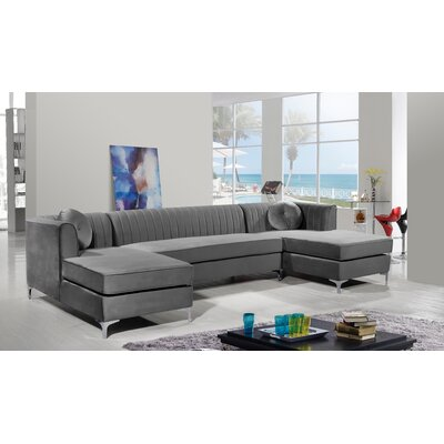 Everly Quinn Symmetrical Symmetrical Modular Sectional Upholstery Color Sectionals