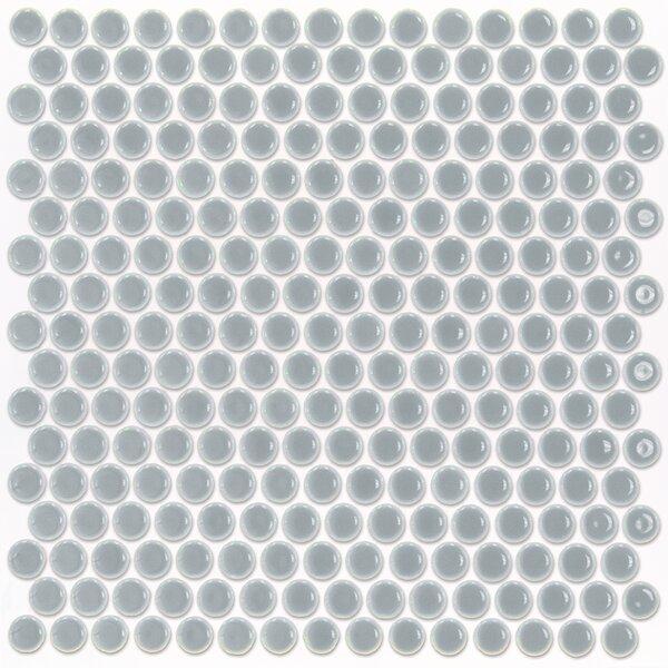 Bliss 0.75 x 0.75 Ceramic Mosaic Tile in Modern Gray by Splashback Tile