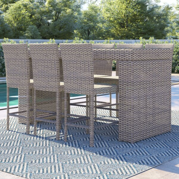 Everton 7 Piece Bar Height Dining Set By Sol 72 Outdoor by Sol 72 Outdoor No Copoun