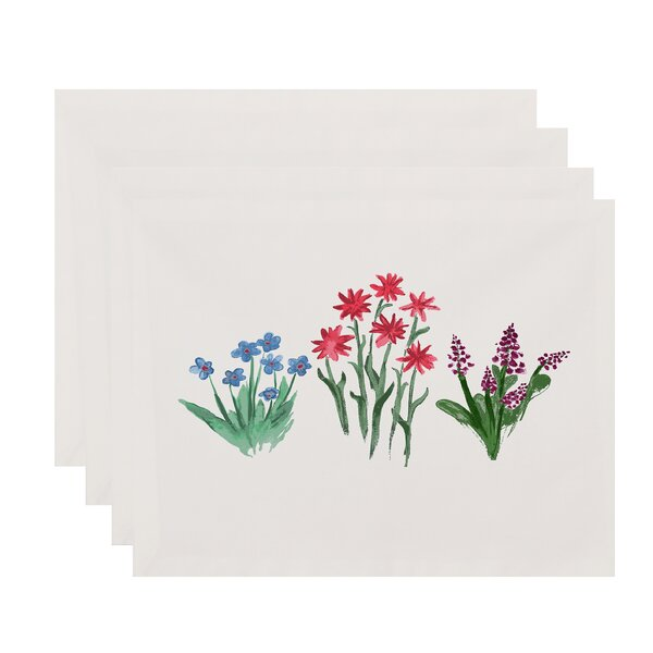 Laymon Flower Trio Placemat (Set of 4) by Gracie Oaks