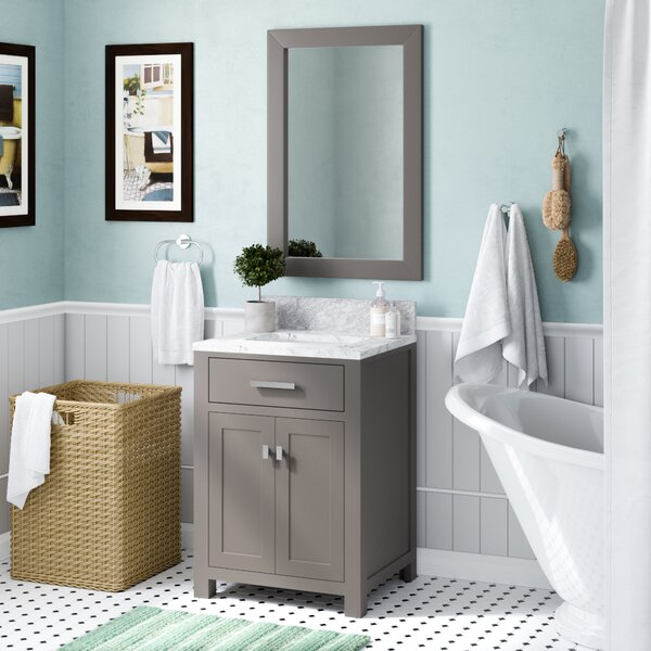 Raven 25 Single Bathroom Vanity Set with Mirror by