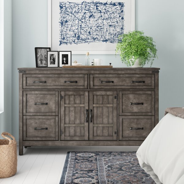Kemmerer 6 Drawer Combo Dresser by Three Posts