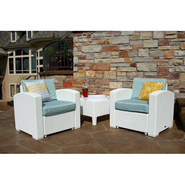 Loggins 3 Piece Conversation Set with Cushions by Brayden Studio