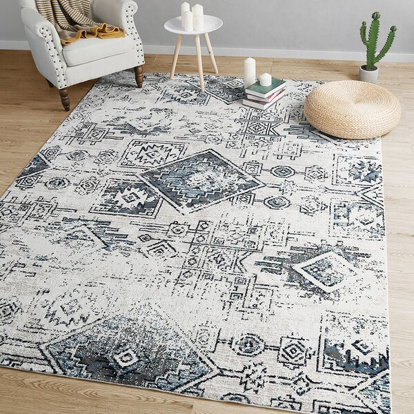 Rosenthal Distressed Gray Area Rug by Union Rustic