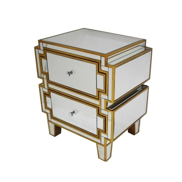 Lakeshore 2 Drawer Nightstand by Mercer41