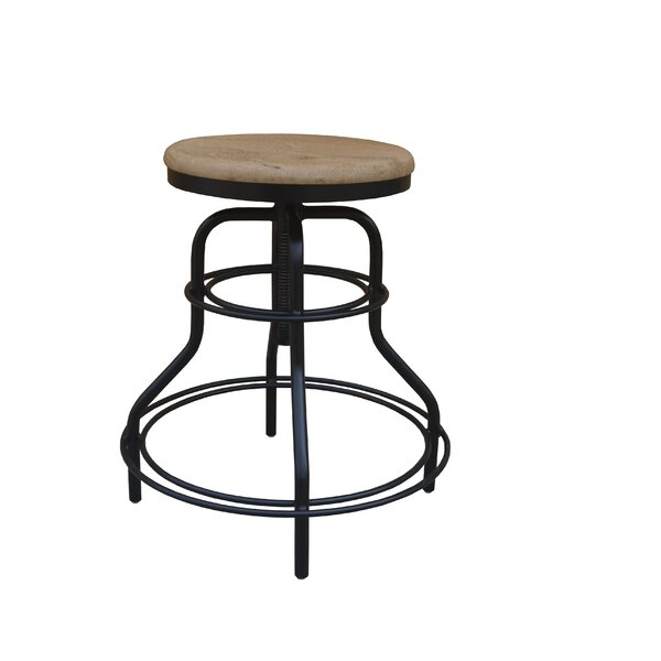 Pratt Revolving Adjustable Height Bar Stool by 17 Stories 17 Stories