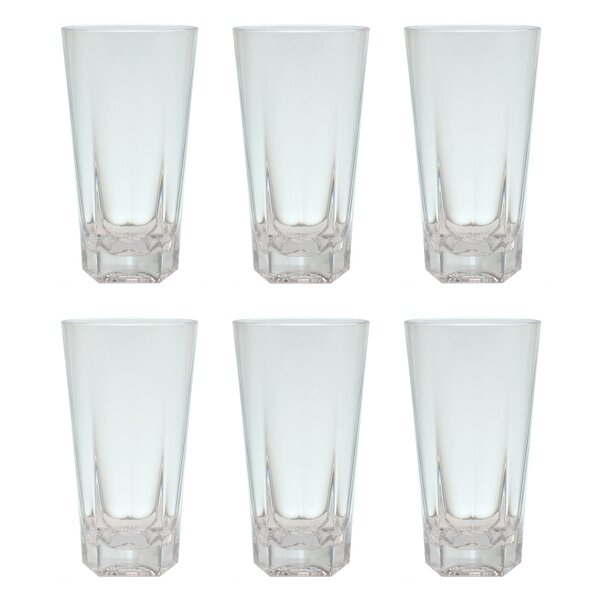 Mcardle 19 oz. Plastic Every Day Glasses (Set of 6) by Ebern Designs
