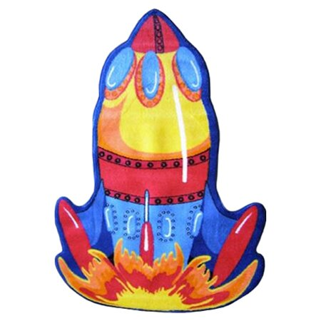 Fun Shape High Pile Rocket Area Rug by Fun Rugs