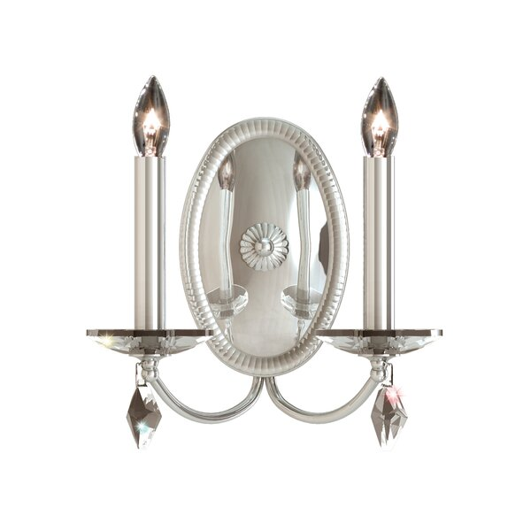 Modique 2-Light Candle Wall Light by Schonbek