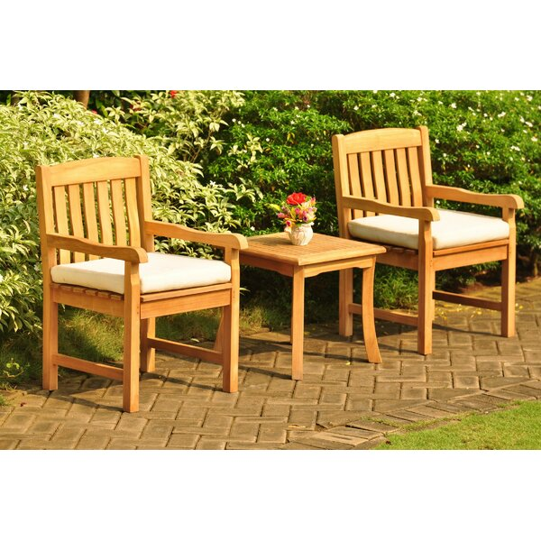 Escolta 3 Piece Teak Seating Group by Rosecliff Heights Rosecliff Heights