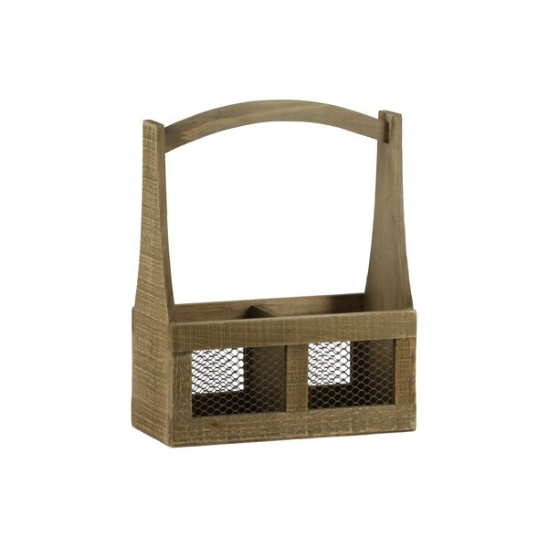 Alabama 2 Slot Wood Planter Basket by August Grove