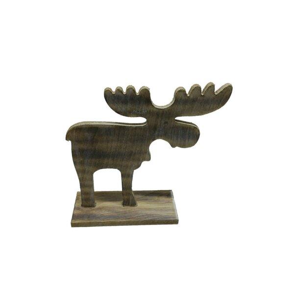 Whiting Wooden Large Vintage Moose by Loon Peak
