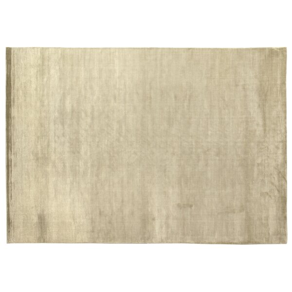 Dove Courduroy Silk Hand-Woven Light Beige Area Rug by Exquisite Rugs