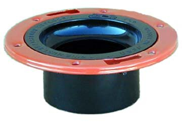 ABS-DWV Closet Flange with Adjustable Metal Ring by GenovaProducts