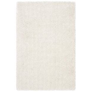 Feng Hand-Tufted White Area Rug by Wrought Studio