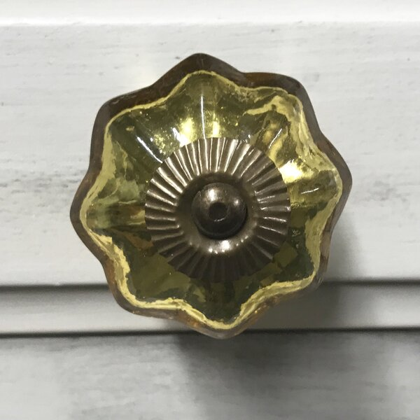 Mercury Glass Octagon Novelty Knob by Shabby Restore