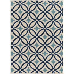 Charlton Home Osage Blue Indoor/Outdoor Area Rug & Reviews | Wayfair
