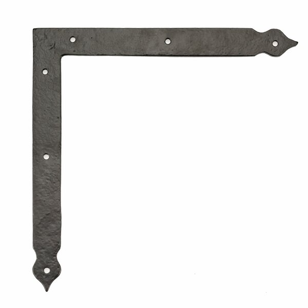 7.79 H x 7.79 W x 0.25 D Decorative Corner Bracket for Barn Door by Richelieu