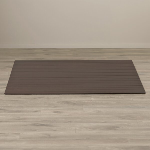 Bamboo Rectangular Office Chair Mat by Symple Stuff