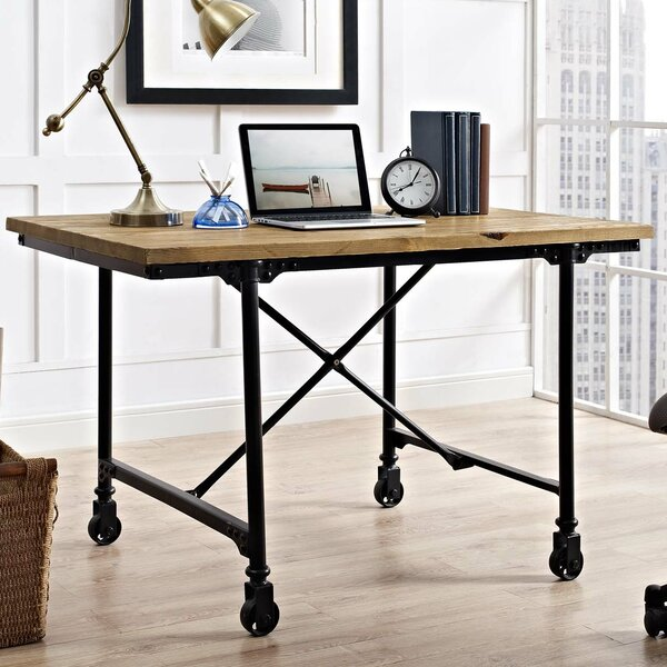 Braxten Raise Wood Writing Desk [17 Stories]
