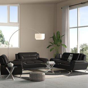 Stcyr 3 Piece Faux Leather Living Room Set by Orren Ellis
