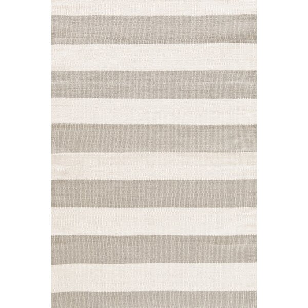 Catamaran Hand Woven Platinum/Ivory Indoor/Outdoor Area Rug by Dash and Albert Rugs