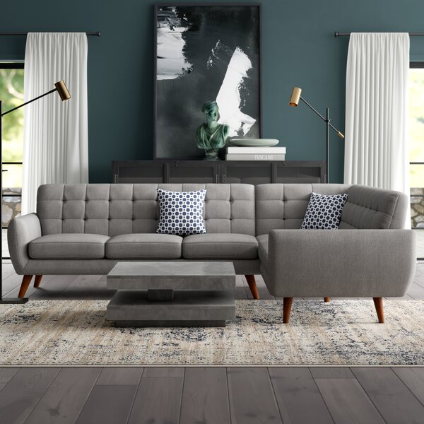 Austell 196-inch Right Hand Facing Sectional By Wrought Studio