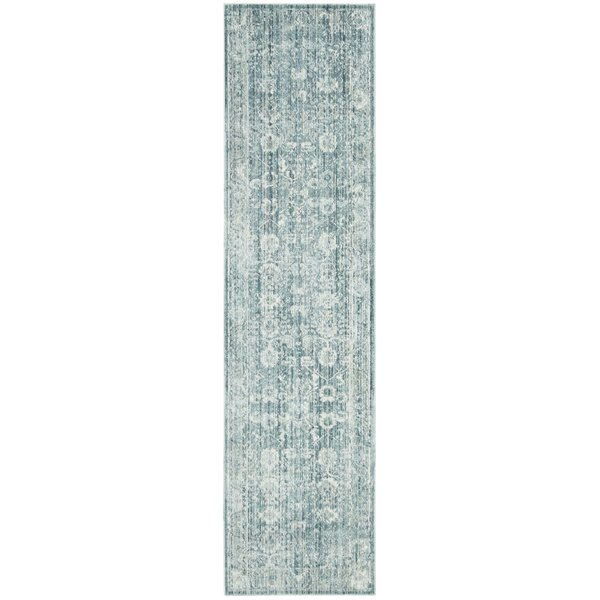 Soren Power Loomed Blue/Ivory Area Rug by Bungalow Rose