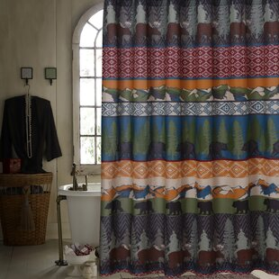 Comparison Black Bear Lodge Shower Curtain ByGreenland Home Fashions