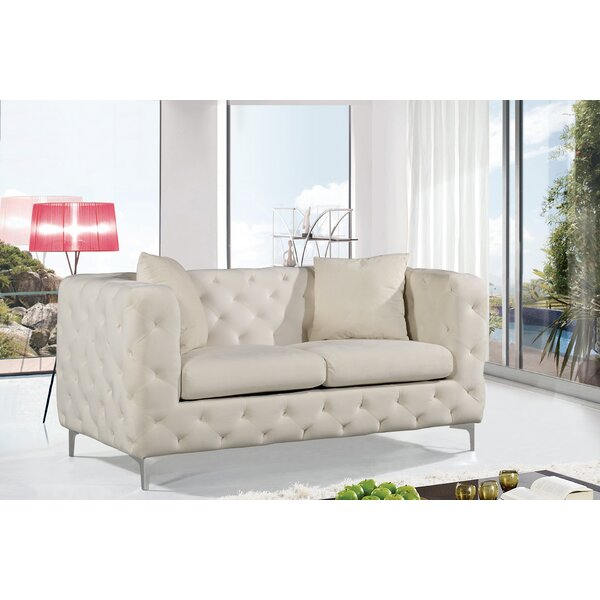 New Look Collection Maubray Chesterfield Loveseat by Mercer41 by Mercer41