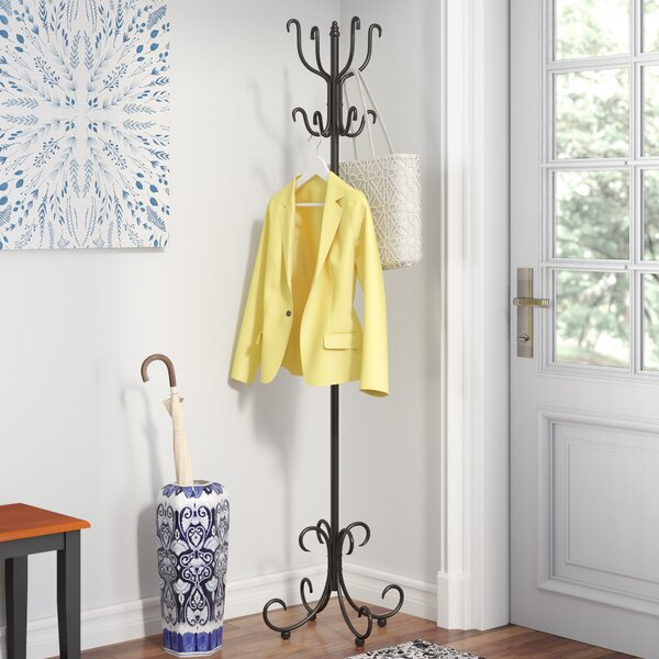 Black Cloister Coat Rack by Three Posts