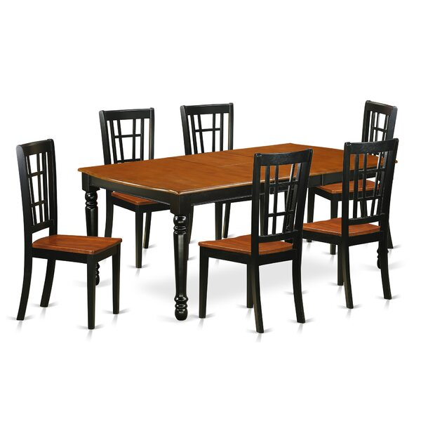 Pimentel 7 Piece Solid Wood Dining Set by August Grove August Grove
