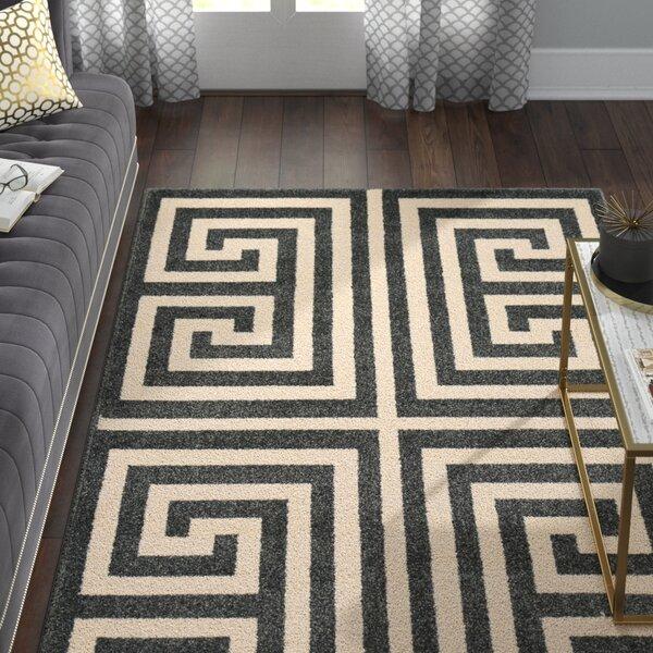 Ellery Black/Beige Area Rug by Willa Arlo Interiors