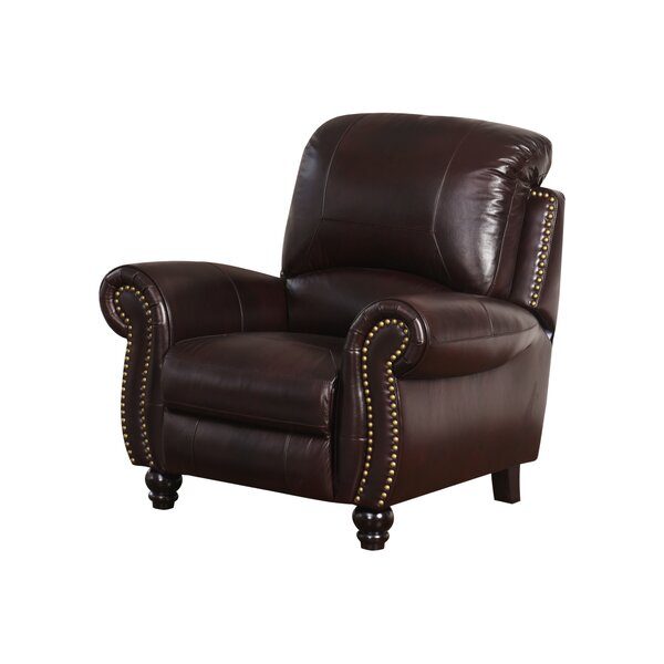 Tanguay Leather Manual Recliner by Williston Forge