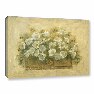 White Floral Bouquet Painting Print on Wrapped Canvas by Lark Manor