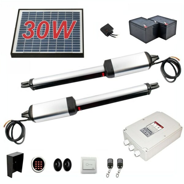 Dual Swing Gate Operator 30W Solar Kit by ALEKO