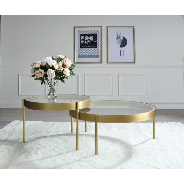 Wigfall Glass Top 3 Legs Nesting Tables By Everly Quinn