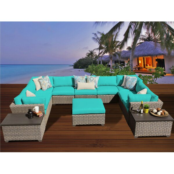 Rochford 12 Piece Sectional Seating Group with Cushions by Sol 72 Outdoor