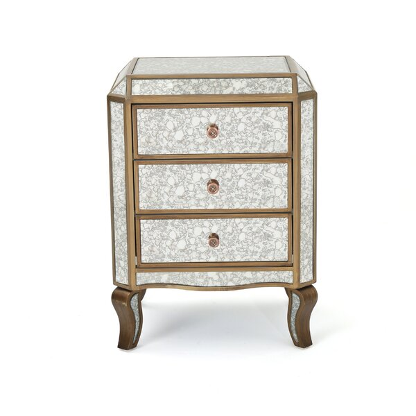 Cheshire Mirrored 3 Drawer Cabinet by House of Hampton