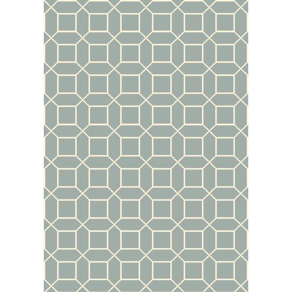 Miles Hand-Knotted Blue Area Rug by Corrigan Studio