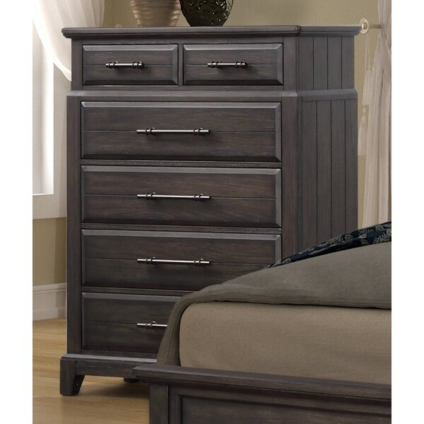 Kreutzer 5 Drawer Espresso Chest by Gracie Oaks