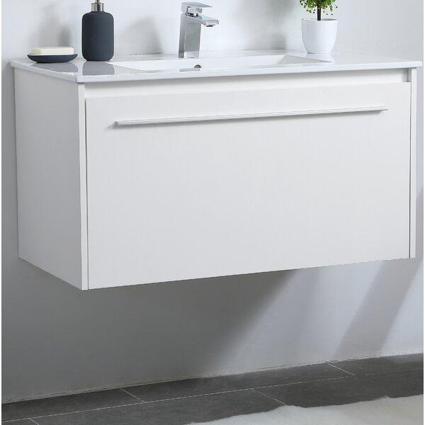 Laperle 36 Wall-Mounted Single Bathroom Vanity Set